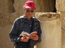 D reading at Masada ruins 3