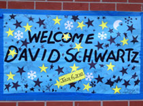 Welcome poster w stars